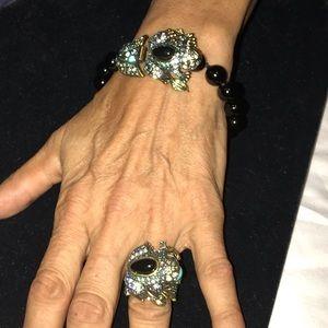Heidi Daus Bracelet & Ring Frog.